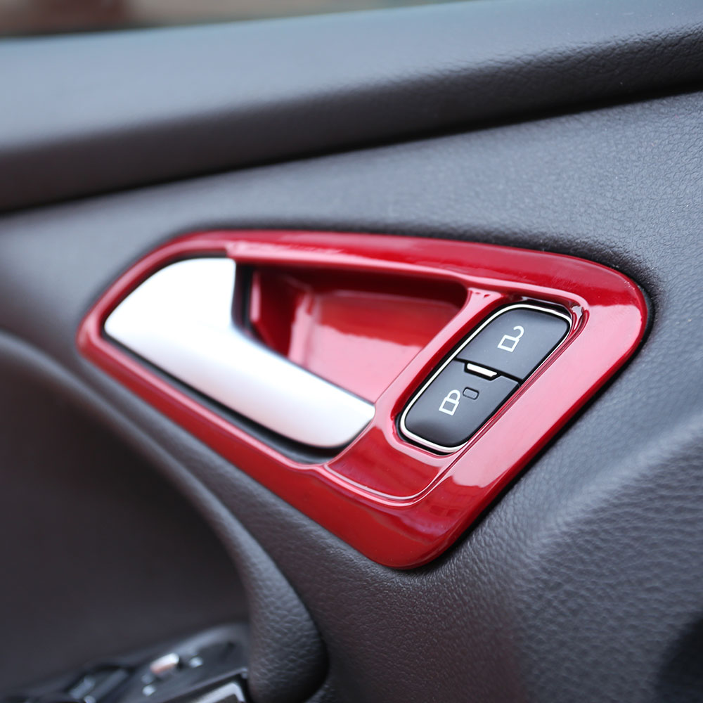 Carmilla Car Interior Inner Door Handle Protection Cover Door Bowl Trim Sticker for <font><b>Ford</b></font> <font><b>Focus</b></font> 3 4 2015 - <font><b>2017</b></font> LHD Accessories image