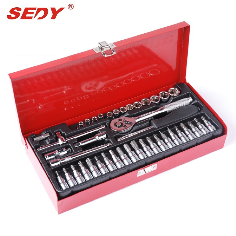 42Pcs Ratchet Socket Set Screwdriver Wrench Electrician Repair Case Multifuntion Waist Bag Hand Tool 35-0 Combination Tool Case 46pcs socket set 1 4 drive ratchet wrench spanner multifunctional combination household tool kit car repair tools set