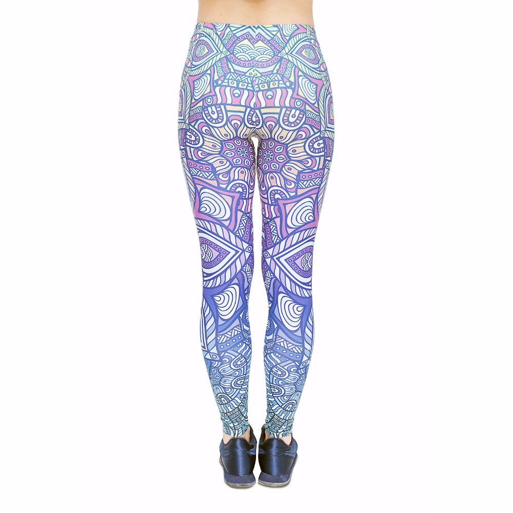 cb1b027d30 New Fashion Workout Fitness Women Leggings Mandala Blue Ombre Printing  Women Sexy Leggings Long Pants Sportswear Causal Legging