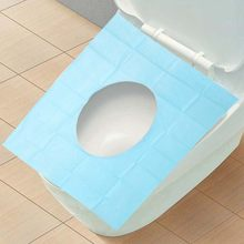 Bathroom Disposable Toilet Mat Tours Travel Waterproof Toilet Paper Potty Sets Toilet Cover Set O Ring Toilet Mat(China)