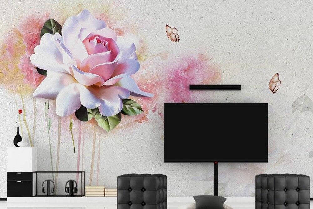 Bevorzugt Belle Abstraite 3d Peintures Murales de Papier Peint Aquarelle  NA41