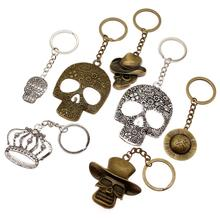 цена New Fashion Skull Keychain Key Charm Skull Mask Key Accessories Cool Car Keychain Handmade Gifts
