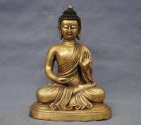 Китай Тибетский буддизм Бронзовая статуя Будды Шакьямуни