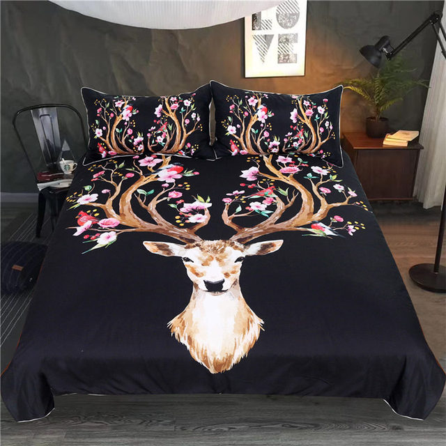 Deer Duvet Cover Set 3pcs