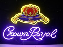 Crown Royal Glass Neon Light Sign Beer Bar neon sign for beer pong neon bulbs signs lamp glass tube decor room wall club room handcraft beer bar sign neon lights for sale