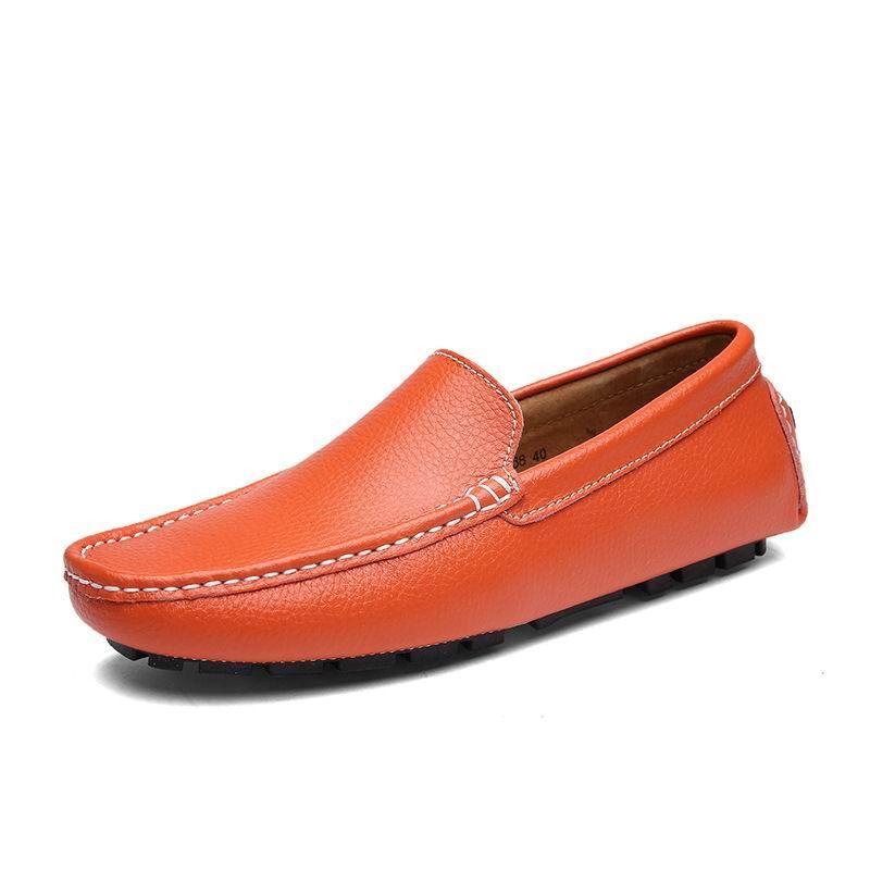 Mocassins Loisirs Slip orange Chaussures bleu Sur Tendances Appartements Zapatos Hommes Bleu Errfc Pilote La blanc Mode Mocassin Homme Concise Blanc 47 bleu Taille Noir Plus Marine by7gf6Yv