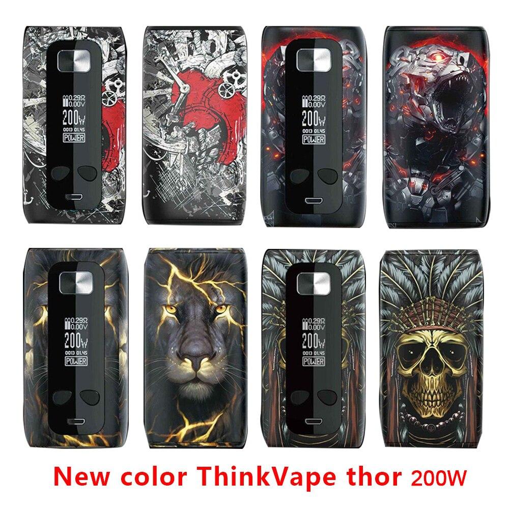 Novo design thinkvape thor 200 w tc caixa mod pensar vape thor pro 220w desvio vape mod modos 510 e cig uso vape 18650 bateria