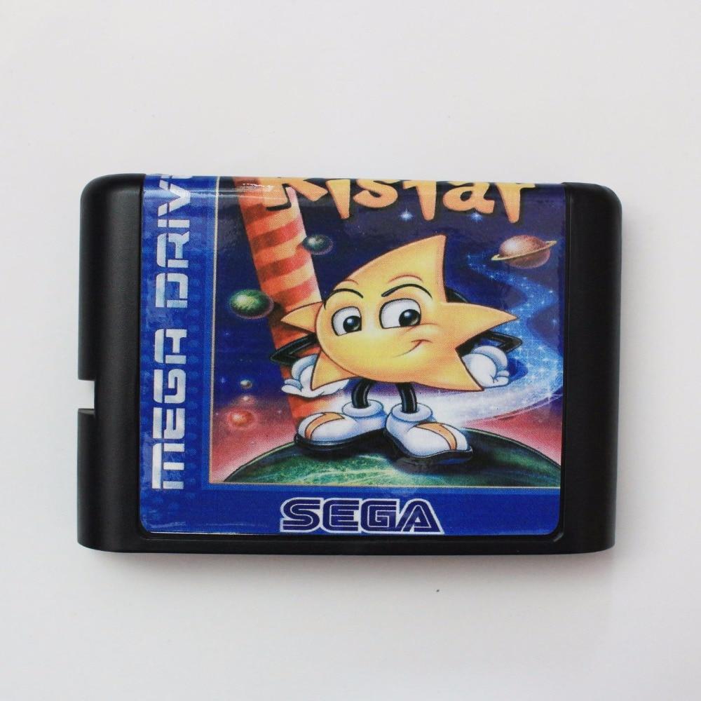 Ristar 16 bit SEGA MD Game Card For Sega Mega Drive For Genesis