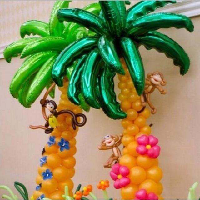 Hot new 36 inch coconut tree leaf foil balloons birthday party hot new 36 inch coconut tree leaf foil balloons birthday party wedding room decor palm leaf junglespirit Choice Image