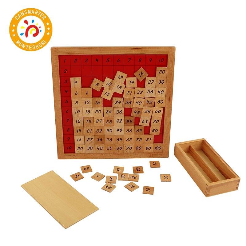 Bébé jouet Montessori matériel en bois Pythagoras conseil mathématiques développement matériel pédagogique éducation précoce