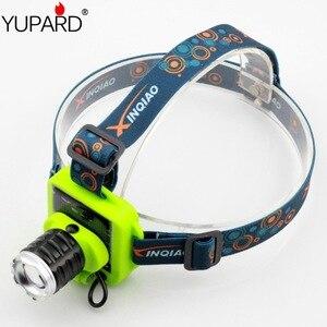 YUPARD налобный фонарь светильник с аккумулятором на солнечной энергии, 3 режима, масштабируемый светодиодный светильник Q5 для кемпинга, рыбал...