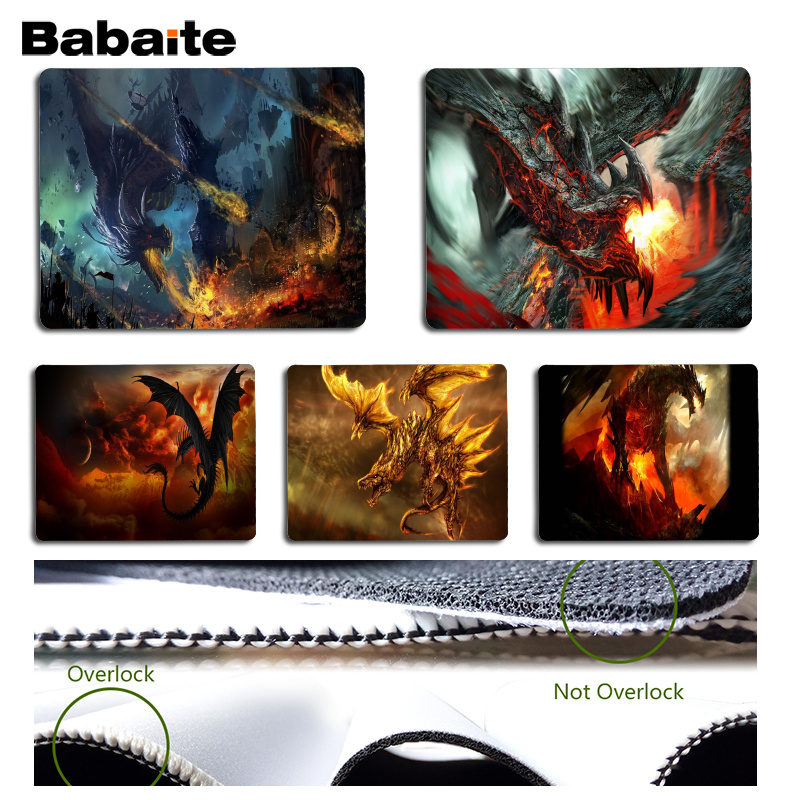 Babaite Spitfire dragon Comfort Mouse Mat Gaming Mousepad Size for 25x29cm Gaming Mousepads