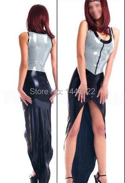 Robe d'été Sexy robe en Latex serré fétiche en caoutchouc Costumes Vestidos grande taille offre spéciale personnaliser le Service