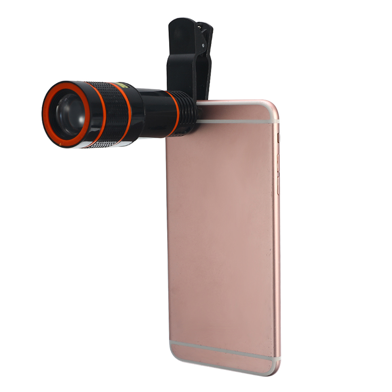 Smartphone 12 Zoom Optical Telescope Camera Telephoto HD Focus Cell Phone Lens image