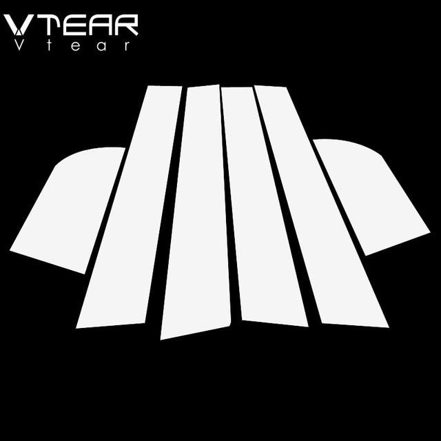 Vtear For Kia Rio 3 Rio 4 X-Line sticker window B C pillar cover Glossy black trim anti scratch Exterior car-styling accessories 6