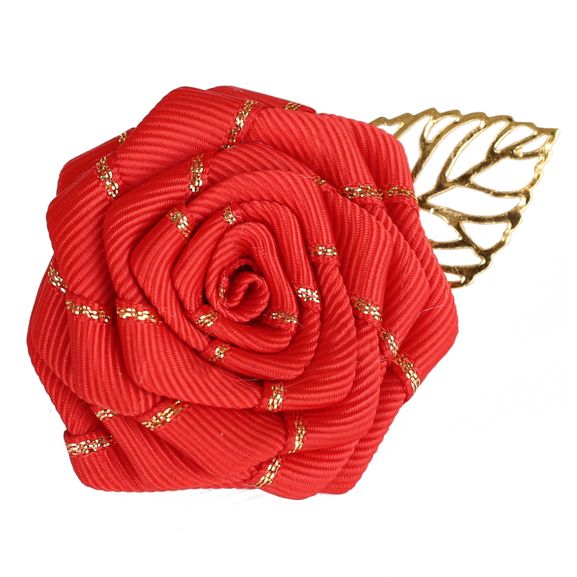 7piece/lot Wedding Prom Corsage Ceremony Flower Brooch Groom Groomsmen Satin Rose Buttonhole Flowers Boutonniere Handmade XH039B