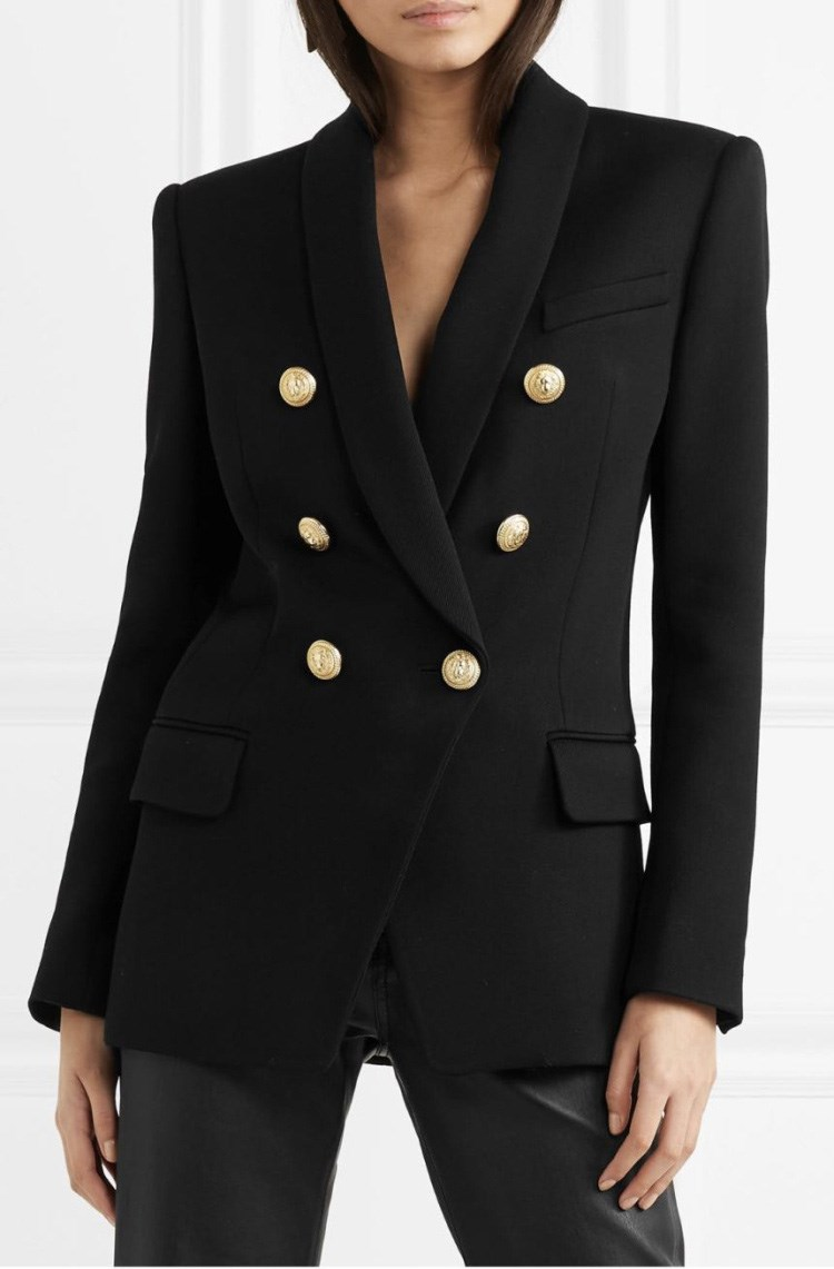 Women Suit Jacket Formal Blazer Jacket Solid 2018 Double Breasted Women Blazer Work Office Business Suit Coat Outwear