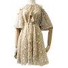 2017 New Large Size Women Summer Dresses Loose Thin Embroidered Hollow Chiffon Dress Plus Size 5XL