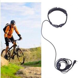 Image 3 - 2 adet ABBREE uzatılabilir boğaz MIC PTT kulaklık kulaklık Kenwood BAOFENG BF 888s UV 5R UV 82 UV 5RE 2 yönlü telsiz Walkie talkie
