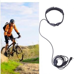 Image 3 - 2pcs ABBREE Extendable Throat MIC PTT headphone Headset for Kenwood BAOFENG BF 888s UV 5R UV 82 UV 5RE 2 way radio Walkie Talkie