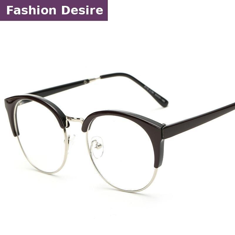 2016 new fashion hot sale metal round eye glasses frames for women high quality oculos de grau clear eyewear optical yjk009 in eyewear frames from womens - Most Popular Eyeglass Frames