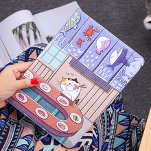 купить Fashion Case For Ipad 2 3 4 9.7 inch Case PU Leather Shockproof Cartoon Stand Magnetic Smart Cover For Apple ipad 2 3 4 Case дешево