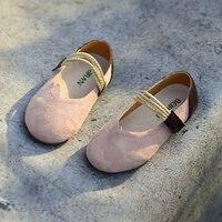 Baby Girls Moccasins Genuine Leather Soft Solid Color Vintage Style Kids Flats Hook Loop Children Shoes Spring Autumn Size 23 35