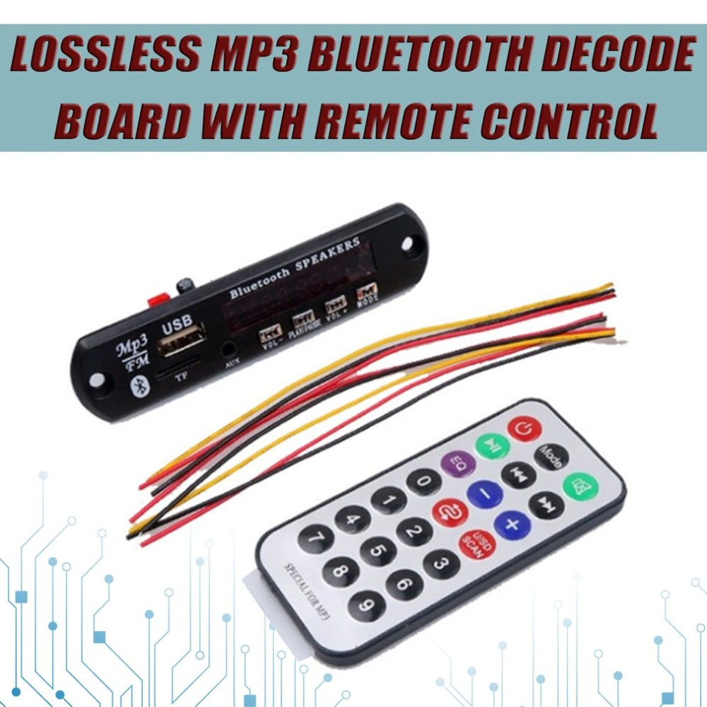 Lossless Bluetooth MP3 WMA Decoder Board with Remote Control Audio Module Support AUX TF USB FM Radio For Car Accessory Hot bluetooth