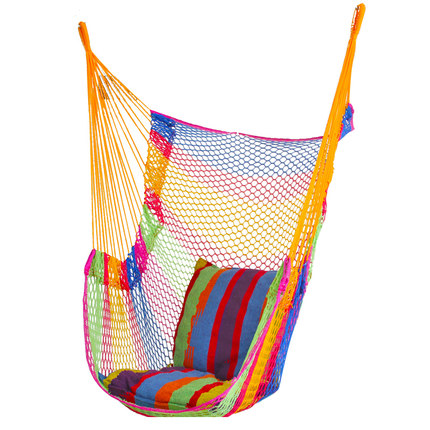 Breathable ice mesh hanging single chair swing outdoor mesh Summer beach hammock Swinging hammock adult children kids