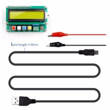 Lc100-A Digitale Lcd High Precision Inductantie capaciteit L/C Meter Condensator Tester Frequentie 1Pf-100Mf 1Uh-100H Lc100-A + Te(China)