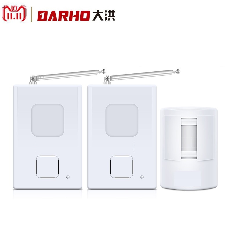 Darho Welcome Device Shop Store Home Welcome Chime Wireless Infrared IR Motion Sensor Door bell Alarm Entry Doorbell Reach 300m mool welcome chime door bell motion sensor wireless alarm