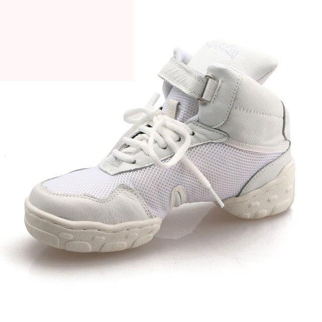 new concept 88839 86a72 US $33.07 49% OFF|Vierkante Fitness Dansschoenen Jazz Schoenen Man Sport  Sneaker Kinderen Dansschoenen Lederen Moderne Mannen Schoenen Wit Vier in  ...