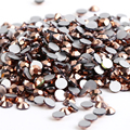 SS3~SS30 Rose Gold Color Crystal FlatBack Non Hotfix Rhinestones,Nail Art Glue On glass Rhinestones,DIY Crafts Garments