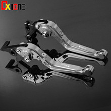 Up with logo Motorcycle Clutch Brake Lever Foldable Extendable Adjustable Aluminum Levers Set For BMW F650CS SCARVER 2000-2005