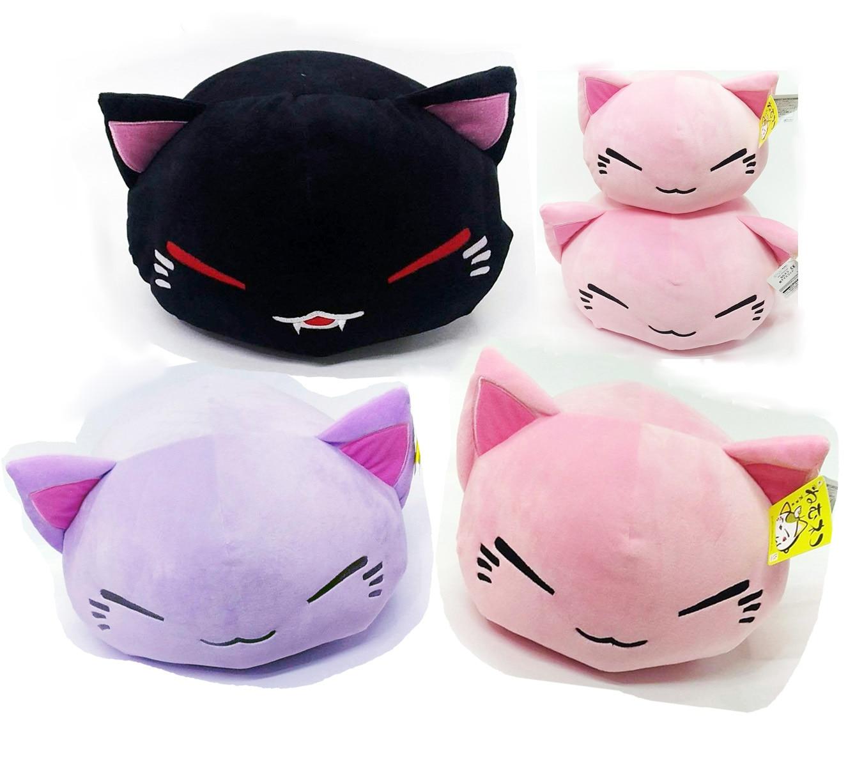 38cm Cartoon Nemuneko Sleeping Cat Super Soft Plush Doll Toys Kawaii Neko Cat Animal Pillow Toys