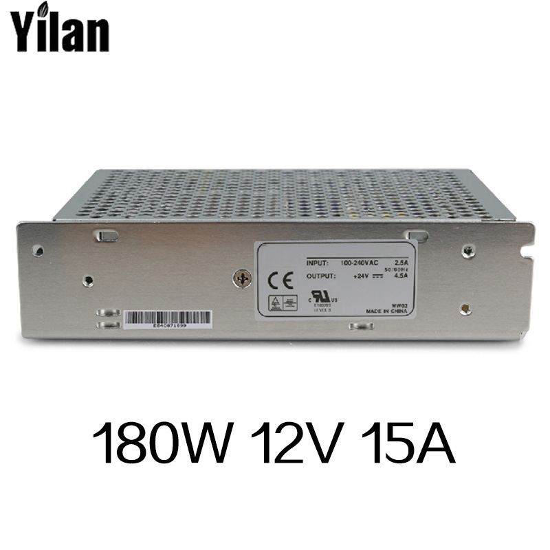 180W 12V 15A Single Output Switching power supply for LED Strip light AC to DC 1200w 48v adjustable 220v input single output switching power supply for led strip light ac to dc