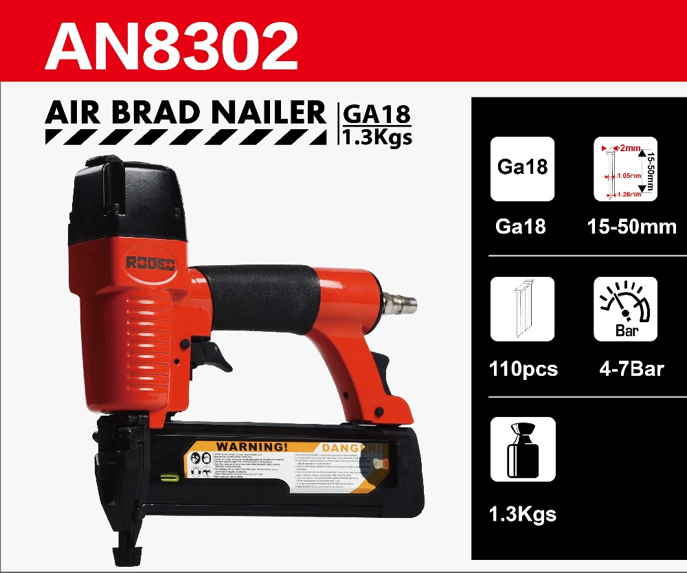 RODEO AN8302 Air Brad Nailer 120PSI GA18 15 50mm Nail Penumatic tools Air tools Woodworking tools in Pneumatic Tools from Tools