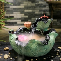 Creative aquarium humidifier Feng Shui lucky round water fountain waterscape ornaments office desktop business gifts