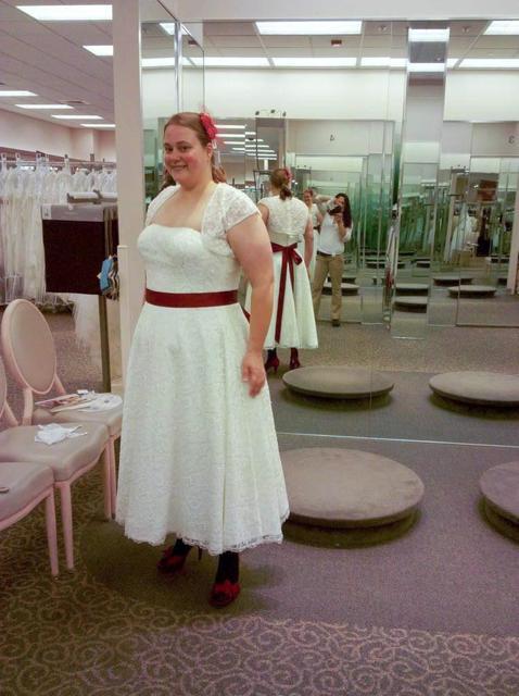 Plus Größe Hochzeit Kleid mit Jacke Rote Schärpe Bodenlangen A linie ...