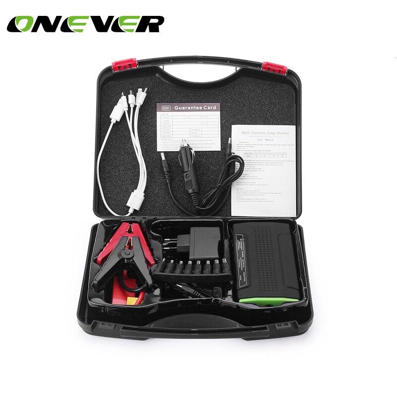 ONEVER Multi-Функция мини Портативный аварийного Батарея Зарядное устройство автомобиля Пусковые устройства 30000 мАч Booster Запасные Аккумуляторы для телефонов пусковое устройство