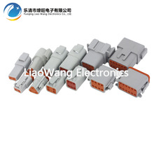 6 Sets Deutsch DT06/DT04 (2+3+4+6+8+12) Pin Engine/Gearbox Waterproof Electrical Connector For Car,Bus,Motor,Truck 22-16AWG