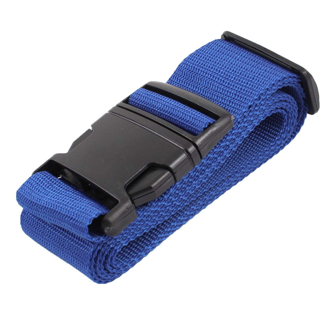 FGGS-Plastic Release Buckle Adjustable Luggage Strap Belt Black Blue luggage belt strap w quick release buckle id tag blue grey black 2m