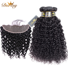 Water Wave Bundles with Frontal Brazilian Human Hair Bundles with Closure Lace Frontal with Bundles Dorisy Non Remy Wave