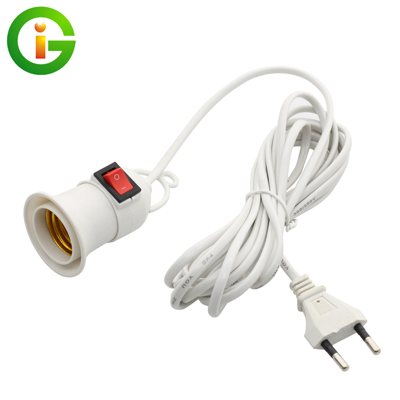 Grow Light Lamp Holder Converter Hoisted E27 Lamp Holder 4M 8M Wire With Switch For Indoor Plant Grow Bulb.
