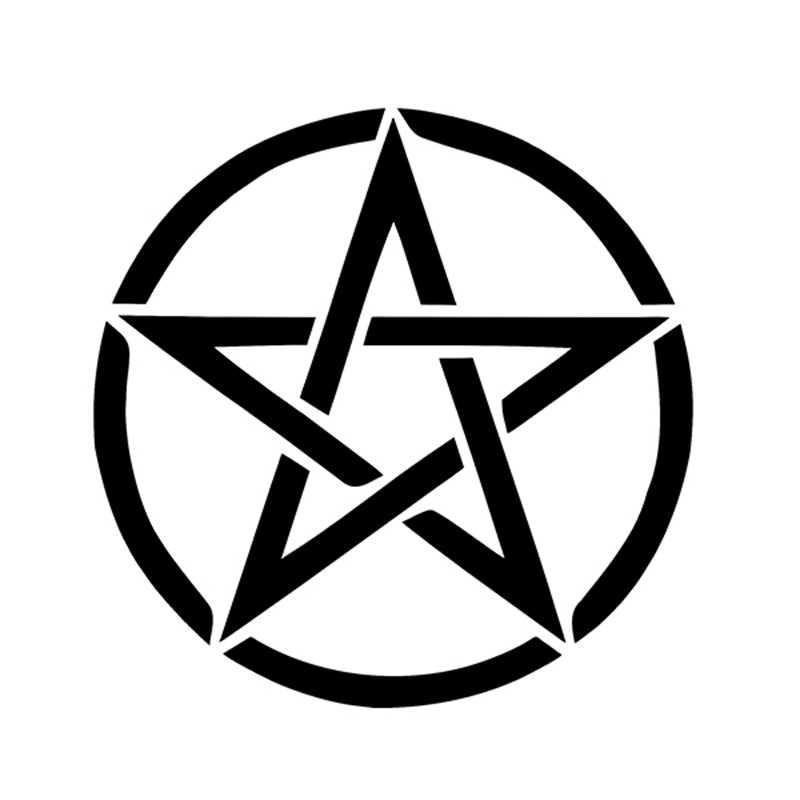 Pentagram Pentacle Goth Pagan Wiccan Celtic Mobil Dinding Vinyl Sticker Decal Jendela Bumper