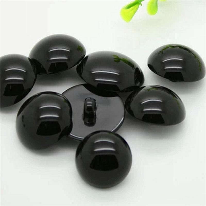 100 Uds & 50 Uds botones de mango Negro botón decorativo de plástico Negro DIY costura ojo para muñecas ojos de juguete nariz Animal 16L 18L 20L 24L