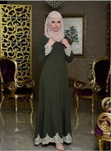 Caftan New Arrival Special Offer Adult Polyester Broadcloth Formal None 2017 Muslim Dress Gown Costume Women Abaya