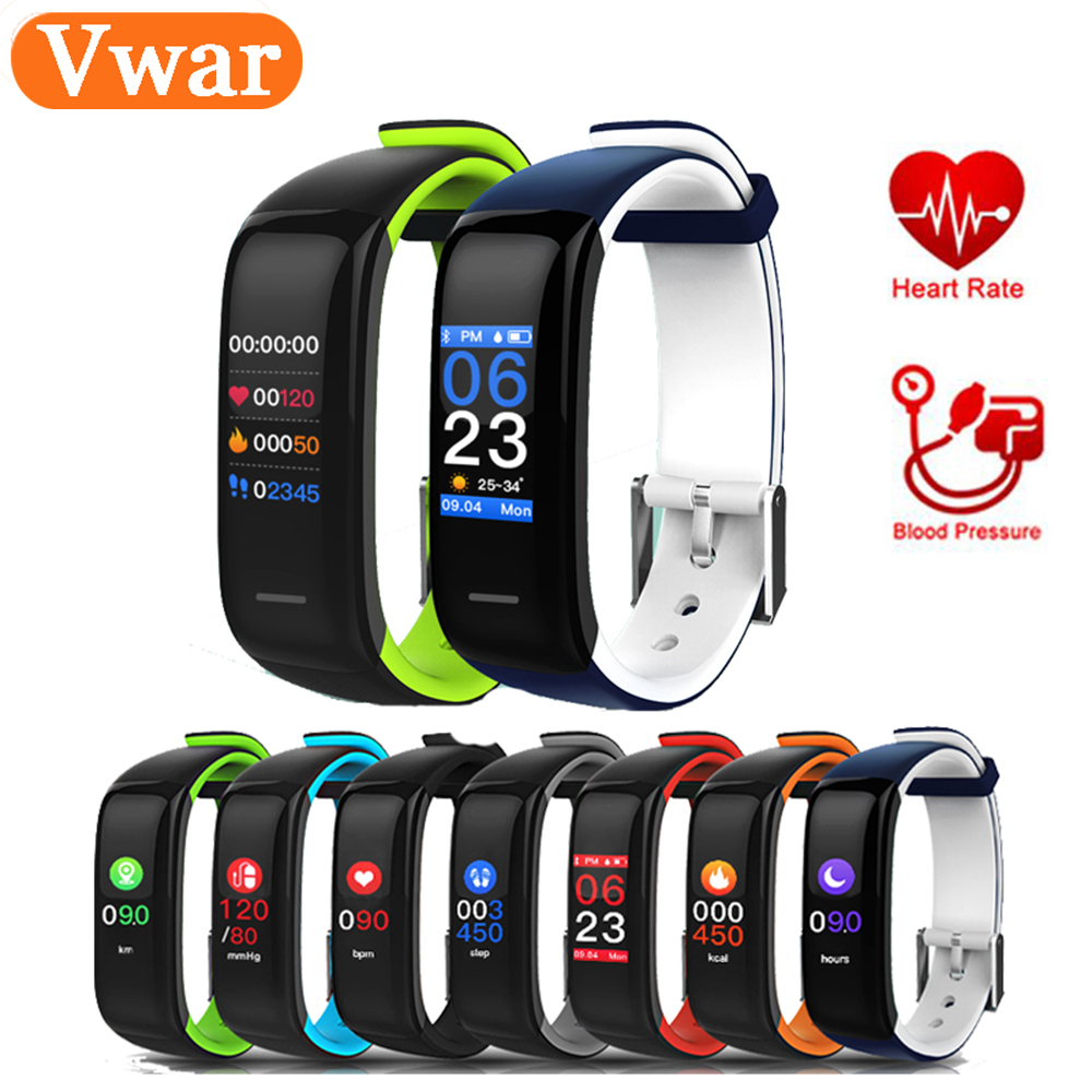H1 Plus Smart band Colorful Fitness Bracelet Heart rate tracker Blood Pressure Monitor P1 Plus Waterproof Wristband PK fitbits plus heart