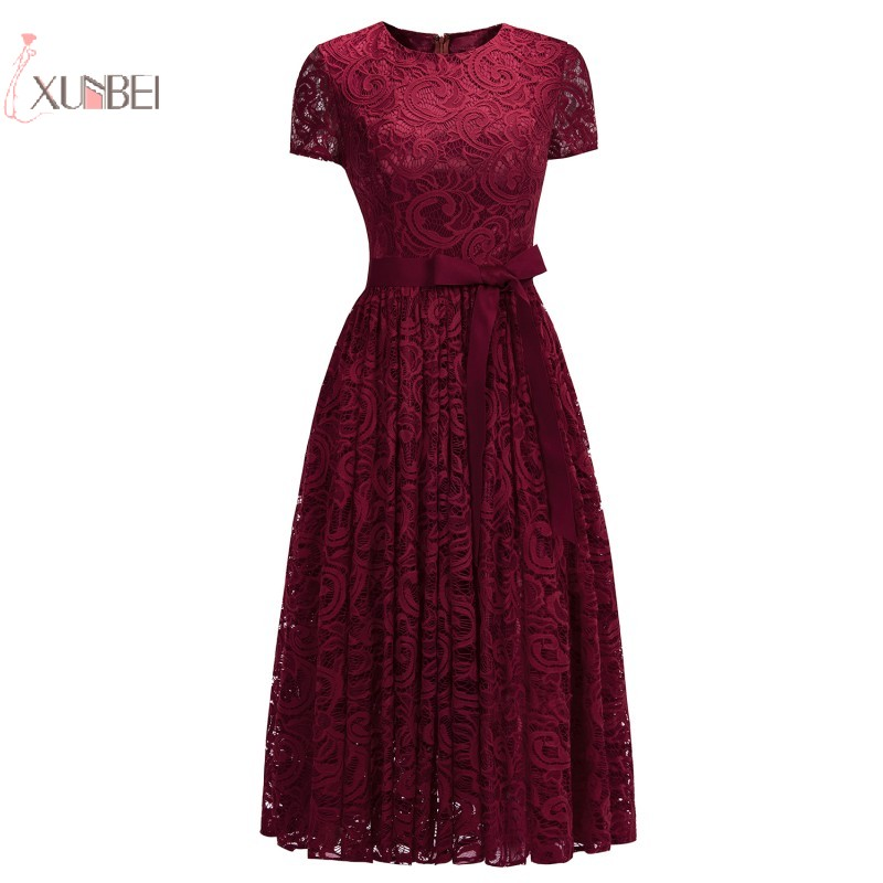 Sleeveless Lace Robe   Cocktail     Dresses   Mini Short Straight Party Evening Gowns Formal Prom   Dresses