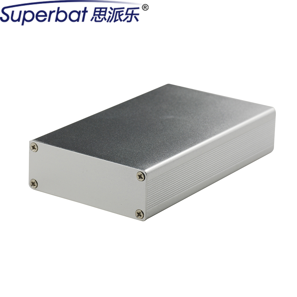 110*64*24MM Extruded PCB Aluminum Project Box Enclosure Case Electronic Instrument DIY 4.33″*2.52″*0.94″(L*W*H) Built-in Grooves